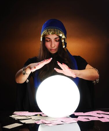 Fortuneteller at work Stock Photo - 6086812