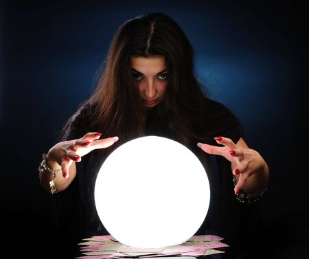 clairvoyance: Fortuneteller at work