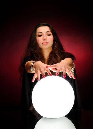 Fortuneteller at work Stock Photo - 6348048
