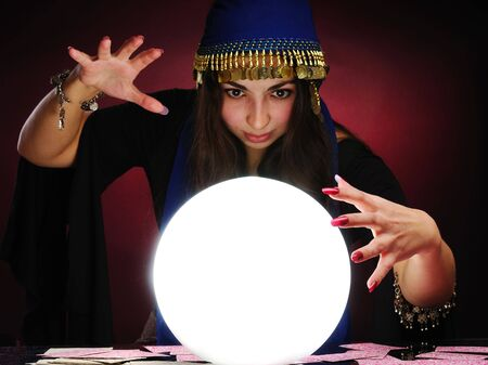 Fortuneteller at work Stock Photo - 6348107