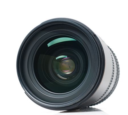 Isolated camera lens photo