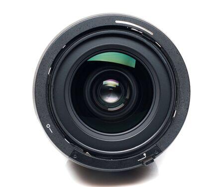 zoom: Isolated camera lens Stock Photo