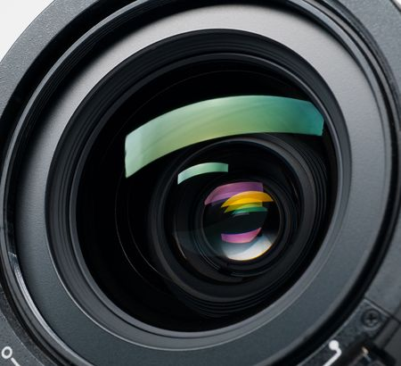 television camera:  camera lens Stock Photo