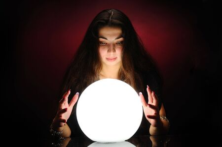Fortuneteller at work Stock Photo - 6392755