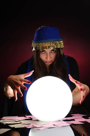 Fortuneteller at work Stock Photo - 6392944