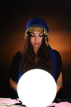 Fortuneteller at work photo