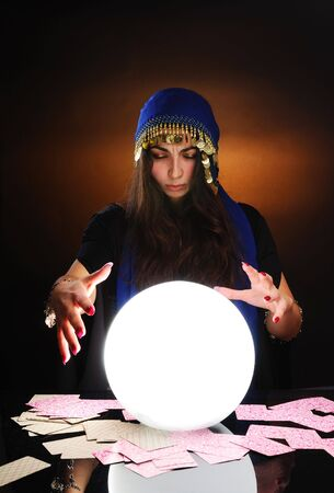 Fortuneteller at work Stock Photo - 6393011