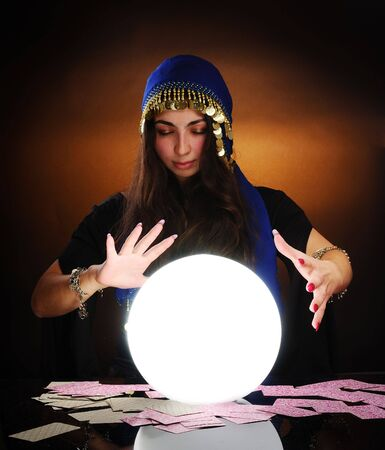 Fortuneteller at work Stock Photo - 6392998