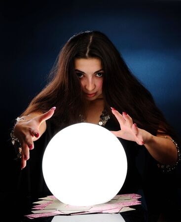 Fortuneteller at work Stock Photo - 6393002