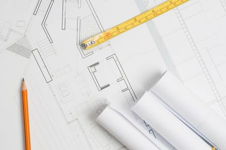 Architect blueprints Stock Photo - 6393044