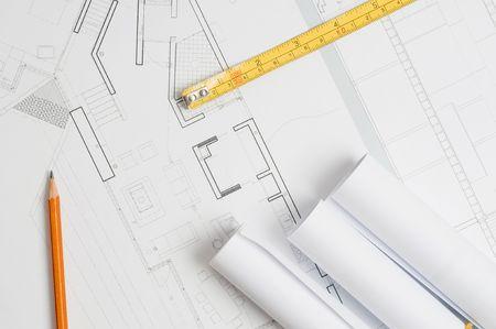 Architect blueprints Stock Photo - 6393044