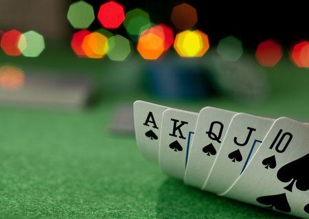 cartas de poker: concepto de p�quer  Foto de archivo