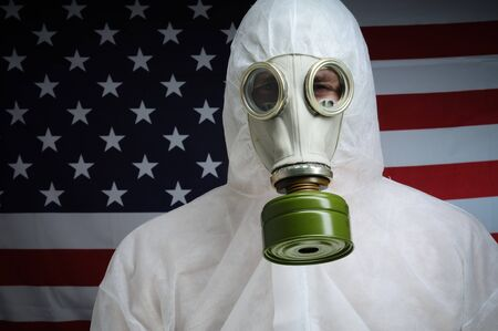 Man in protective wear. photo