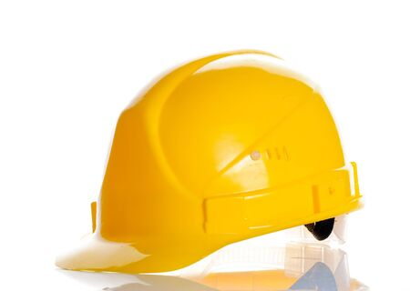Hard hat isolated over white Stock Photo - 7038615
