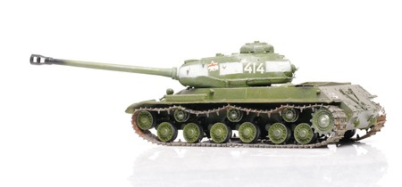Model of soviet ww2 tank IS-2 isolated on white photo