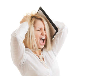 Screaming woman Stock Photo - 9758421