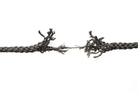 Breaking rope. Isolated over white. Stock Photo - 7394403