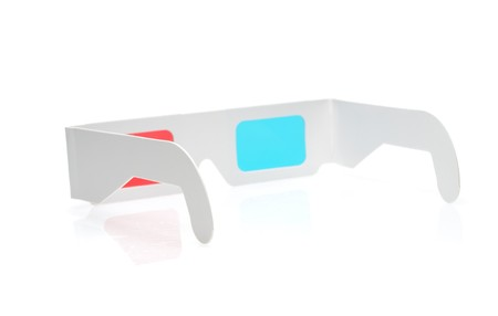 stereoscope: 3d glasses isolated over white Stock Photo