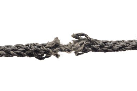 Breaking rope. Isolated over white. Stock Photo - 7864220