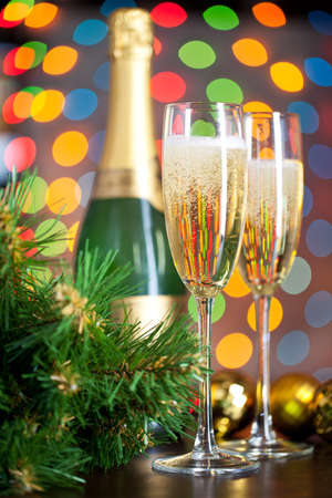 Two full glasses of champagne Stock Photo - 8309677