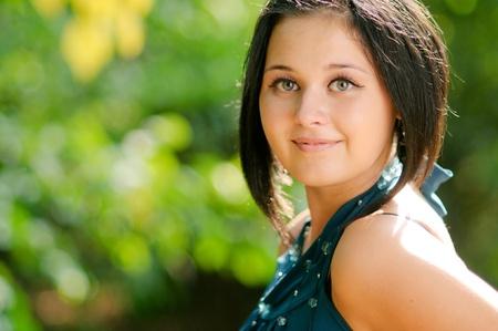 Young beautiful smiling girl  photo