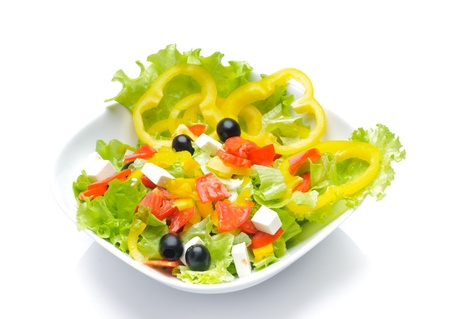 Salad isolated over white photo