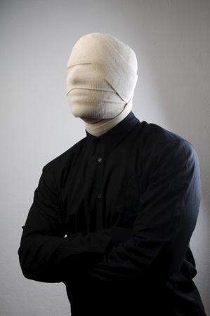 white bandage: Invisible man