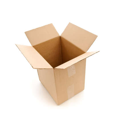 Paper box. Isolated over white photo