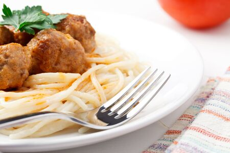 Spagetti and meat balls Stock Photo - 8617846