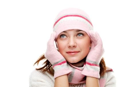 Beautiful woman wearing winter clothes Stock Photo - 8617160