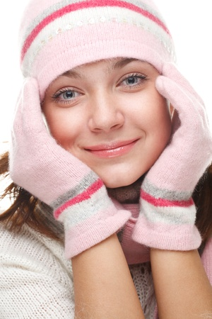 Beautiful woman wearing winter clothes Stock Photo - 8618080