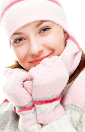 Beautiful woman wearing winter clothes Stock Photo - 8617873