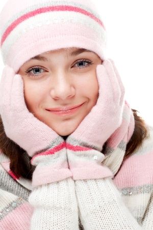 Beautiful woman wearing winter clothes Stock Photo - 8618084