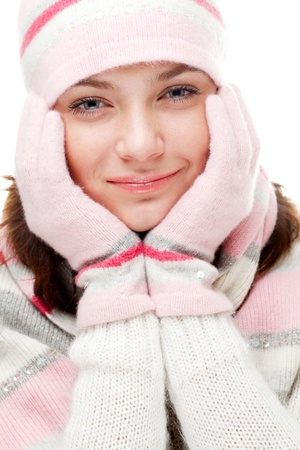 Beautiful woman wearing winter clothes Stock Photo - 8618069