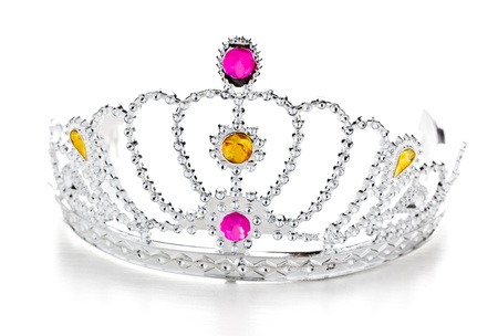 queen of diamonds: Isolated crown