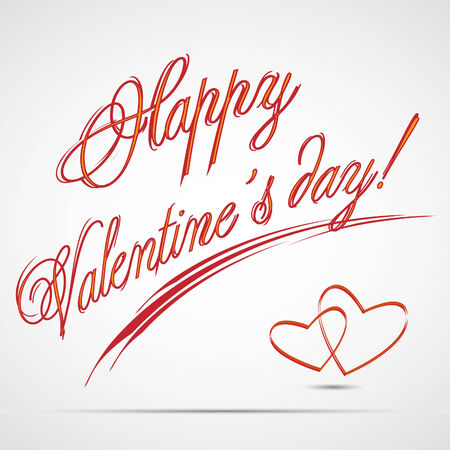 new day: Testo di giorno di San Valentino felice di vettore Vettoriali