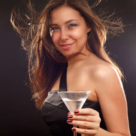 Woman with cocktail photo