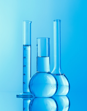 Laboratory glassware Stock Photo - 8996623