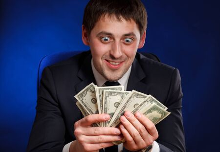 Man with money. photo