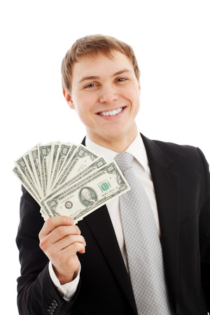 Man with money photo