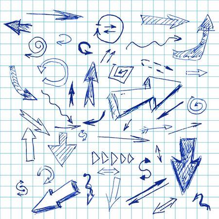 Doodle vector arrows Stock Vector - 9198545