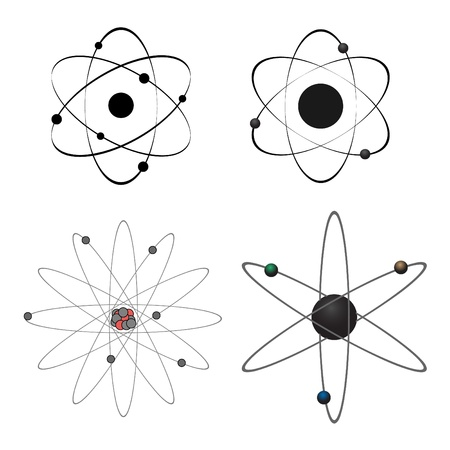 atomo: Cuatro iconos de �tomo de vectores