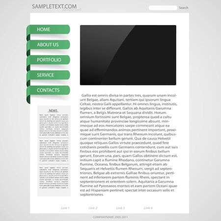 Template page web design Stock Vector - 9198544