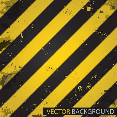rayures diagonales: Bandes de danger. Arri�re-plan de vecteur Illustration