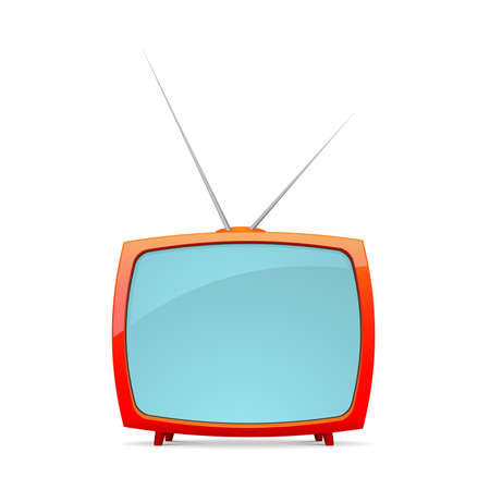 vintage television: Vector retro tv