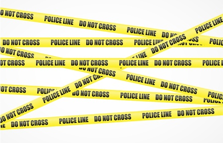 police sign: Vector police line tape