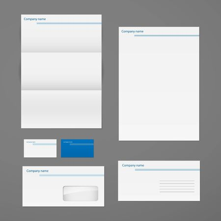 white headed: Vector corporate identity template set.