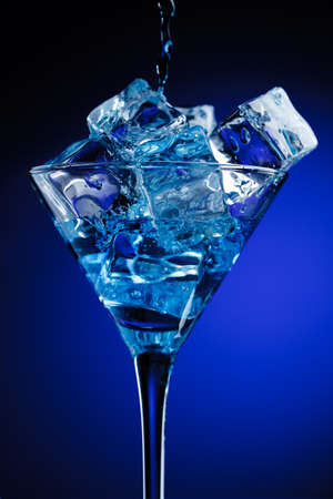 Blue cocktail photo