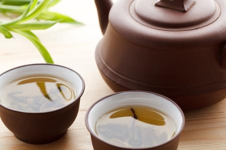 homelike: green tea Stock Photo