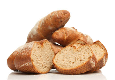Isolated assorted breads photo